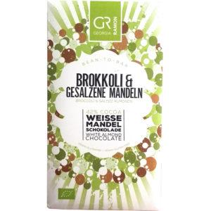 Georgia Ramon brokkoli & gesalzene mandeln weisse mandel schokolade 42%
