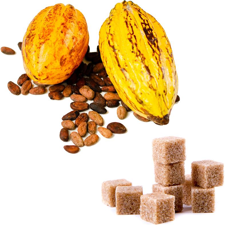 Tumma suklaa - Kaakao ja sokeri