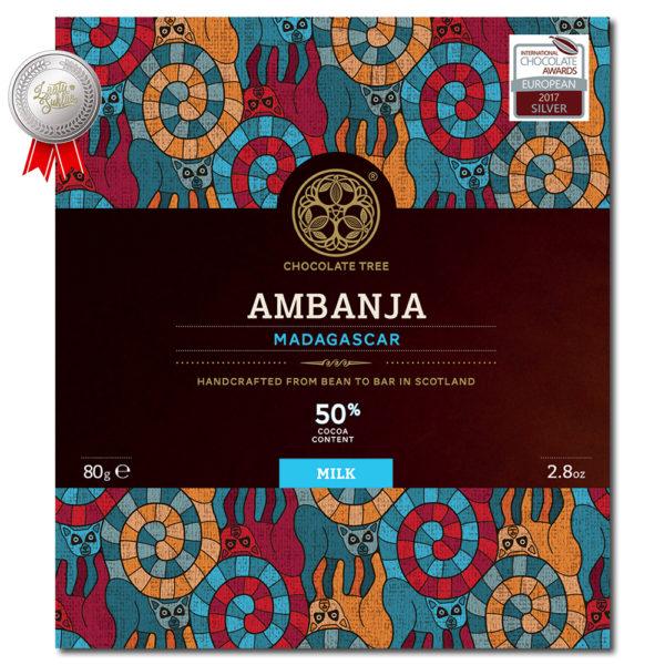 Chocolate Tree Madagascar Ambanja milk 50% maitosuklaa