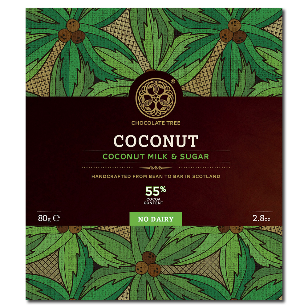 Chocolate Tree coconut milk & sugar 55% maitosuklaa