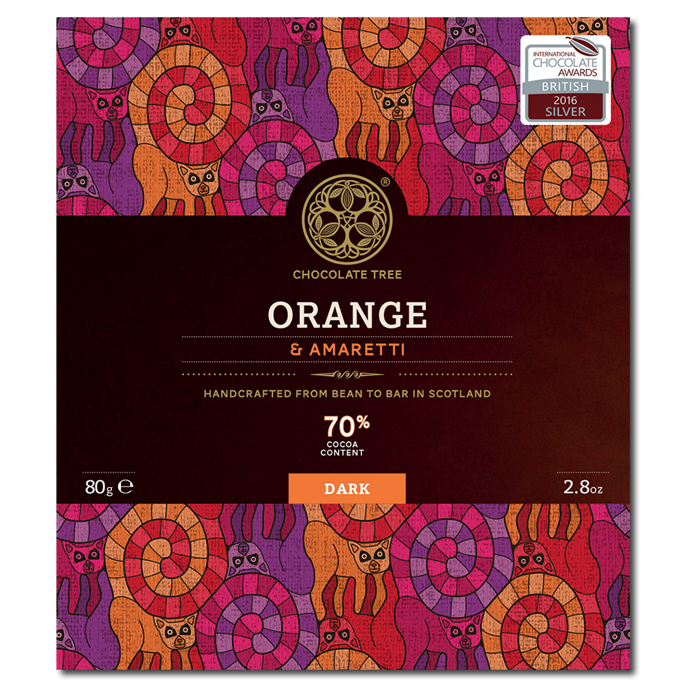 Chocolate Tree Madagascar Ambanja orange & amaretti 70% tumma suklaa