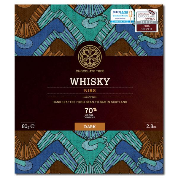 Chocolate Tree whisky nibs 70% tumma suklaa