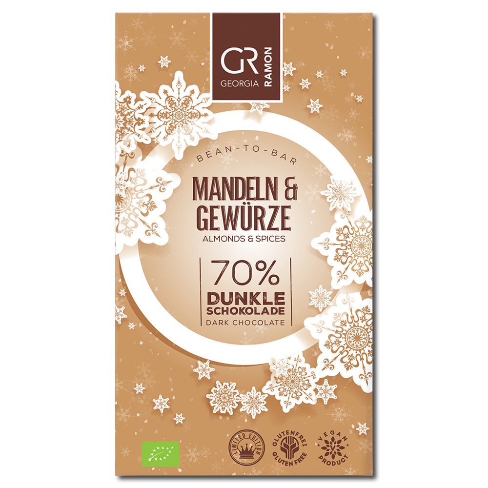 Georgia Ramon Almond & Spices 70% tumma suklaa