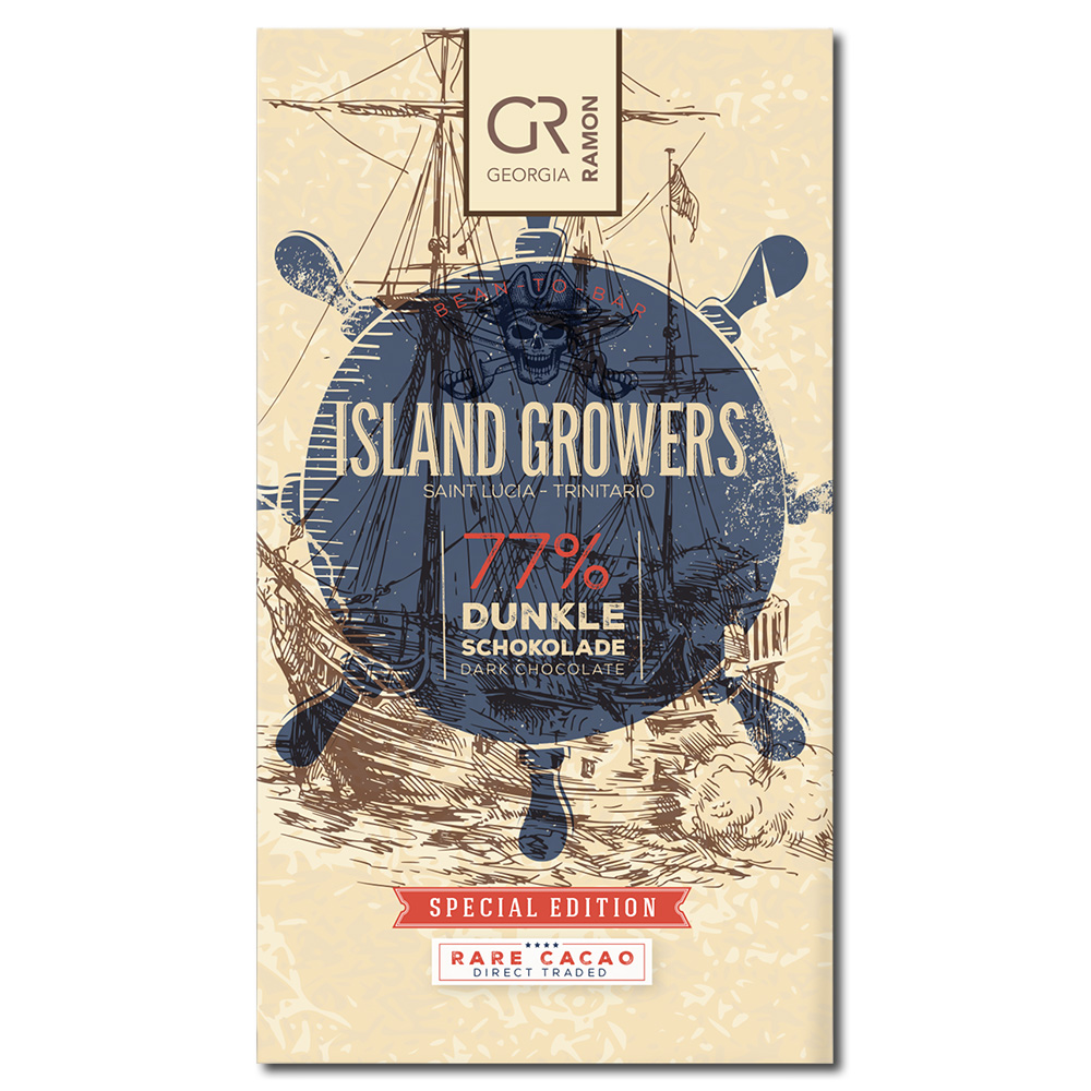 Georgia Ramon Island Growers 77% tumma suklaa