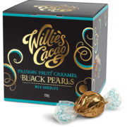 Willie's Cacao Black Pearls Passion Fruit Caramel 44% maitosuklaa