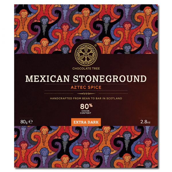 Chocolate Tree Mexican Stoneground Aztec Spice 80% tumma suklaa