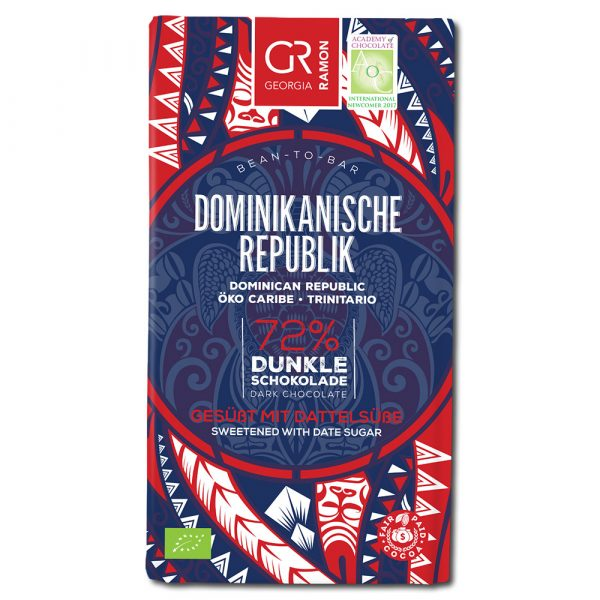 Georgia Ramon Dominican Republic 72% tumma suklaa (taatelisokeri)