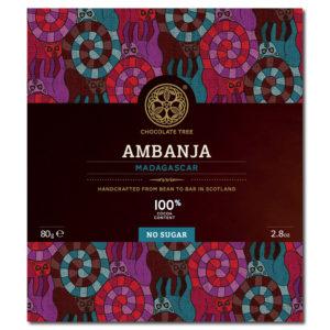 Chocolate Tree Ambanja Madagascar 100% sokeriton tumma suklaa