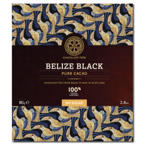Chocolate Tree Belize Black 100% sokeriton tumma suklaa (80g)