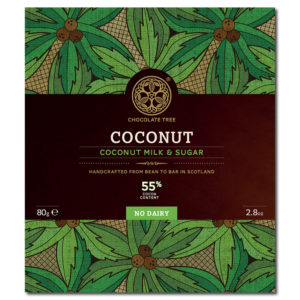 Chocolate Tree coconut milk & sugar 55% vegaaninen kookosmaitosuklaa (80g)