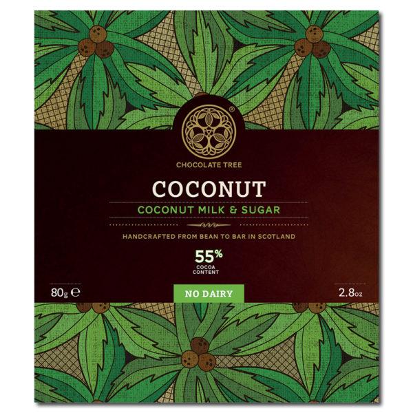 Chocolate Tree coconut milk & sugar 55% vegaaninen kookosmaitosuklaa