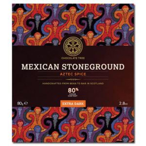 Chocolate Tree Mexican Stoneground Aztec Spice 80% tumma suklaa (80g)