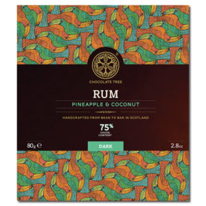 Chocolate Tree Rum Pineapple Coconut 75% tumma suklaa (80g)