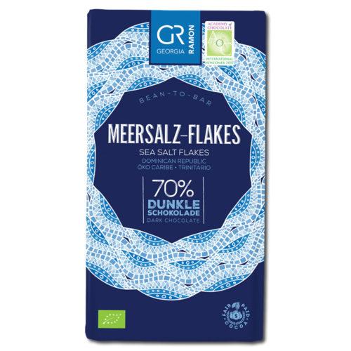 Georgia Ramon Halen Môn Sea Salt Flakes 70% tumma suklaa