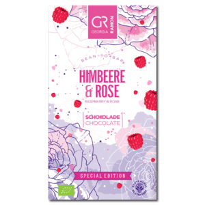 Georgia Ramon Raspberry & Rose white chocolate valkosuklaa
