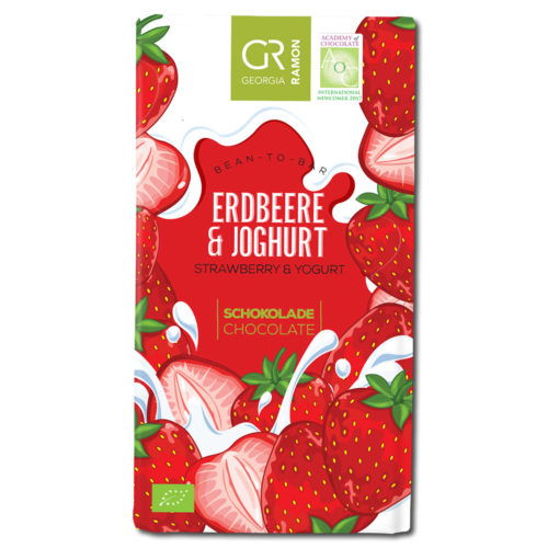 Georgia Ramon strawberry & yogurt valkosuklaa
