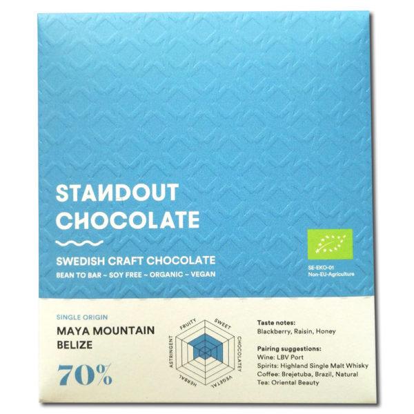 Standout Chocolate Belize Maya Mountain 70%