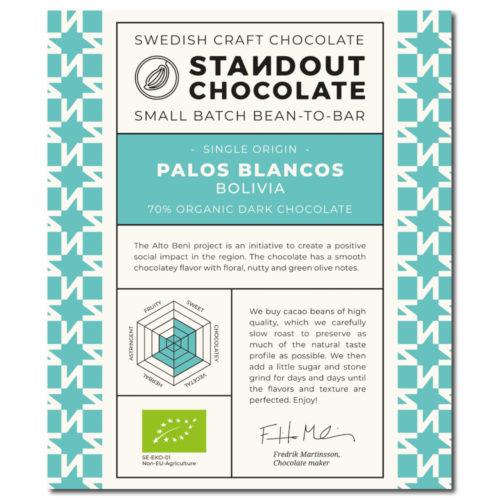 Standout Chocolate Bolivia Palos Blancos 70%