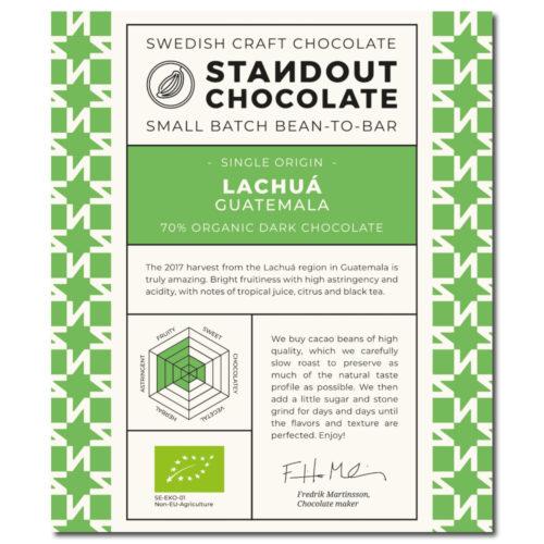 Standout Chocolate Guatemala Lachuá 70%