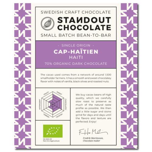 Standout Chocolate Haiti Cap-Haitïen 70%