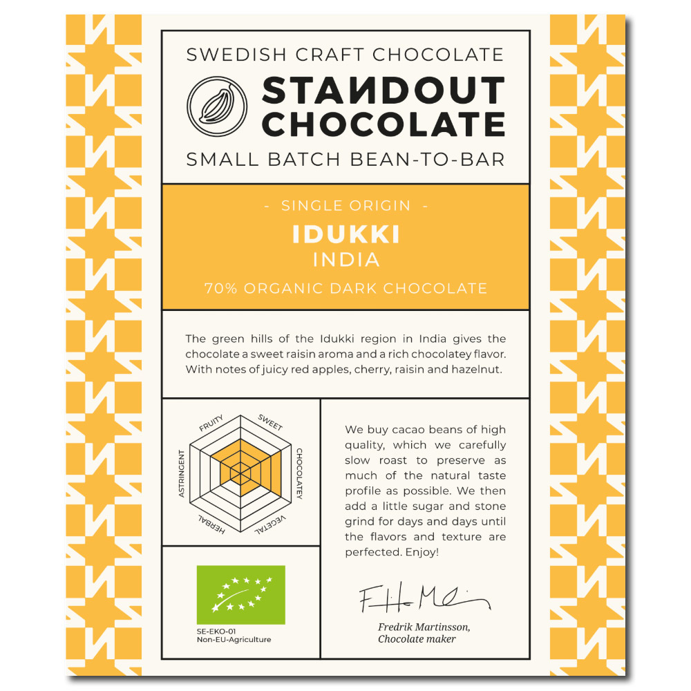 Standout Chocolate India Idukki 70%