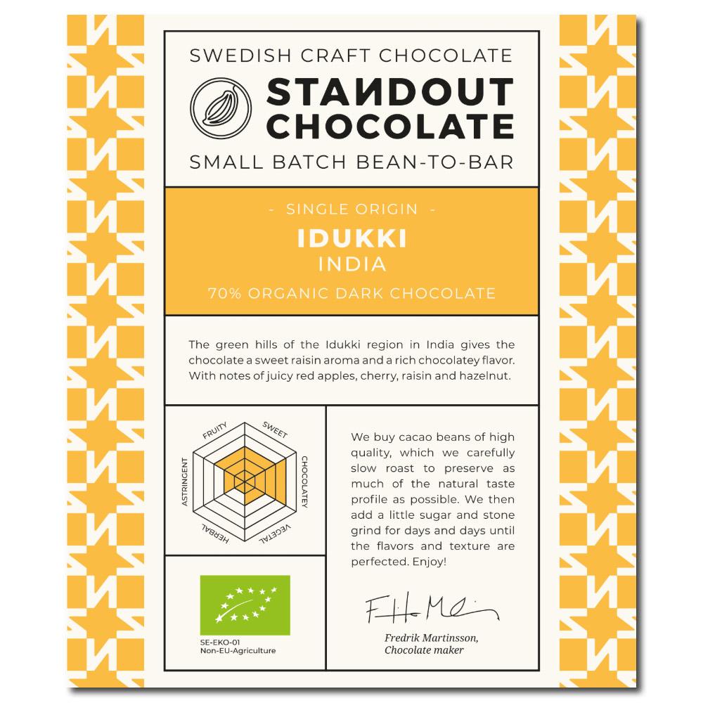 Standout Chocolate India Idukki 70%