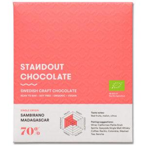 Standout Chocolate Madagascar Sambirano 70% tumma suklaa