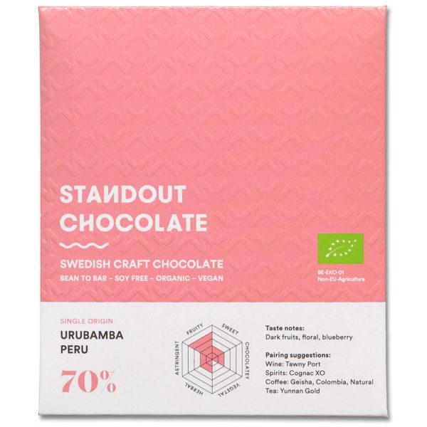 Standout Chocolate Peru Urubamba 70% tumma suklaa