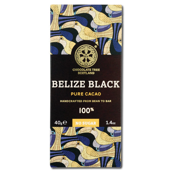 Chocolate Tree Belize Black 100% sokeriton tumma suklaa (40g) 1