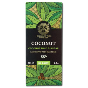 Chocolate Tree Coconut Milk & Sugar 55% vegaaninen kookosmaitosuklaa (40g)