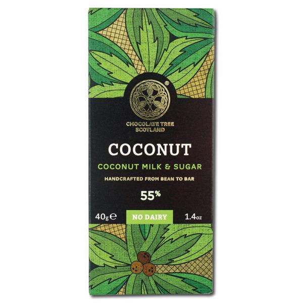 Chocolate Tree Coconut Milk & Sugar 55% vegaaninen kookosmaitosuklaa (40g) 1