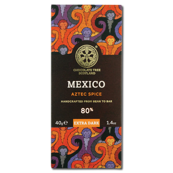 Chocolate Tree Mexican Stoneground Aztec Spice 80% tumma suklaa (40g) 1