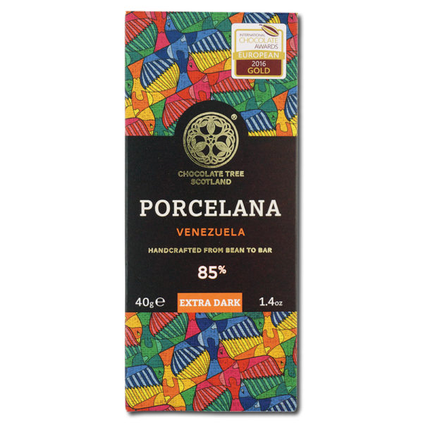 Chocolate Tree Porcelana Venezuela 85% tumma suklaa (40g) 1