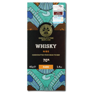 Chocolate Tree Whisky Nibs 70% tumma suklaa (40g)