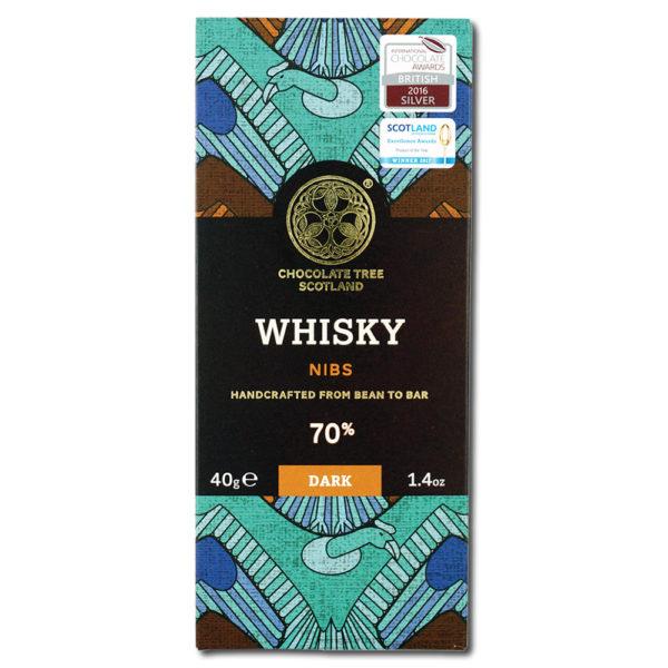Chocolate Tree Whisky Nibs 70% tumma suklaa (40g) 1
