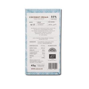 Ajala Chocolate Coconut Cream 55% vegaaninen kookosmaitosuklaa