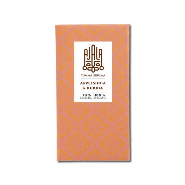 Ajala Chocolate Appelsiinia & Kukkia 70% tumma suklaa