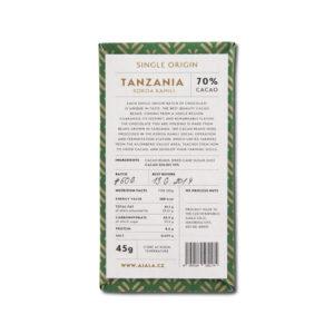Ajala Chocolate Tanzania Kokoa Kamili 70% tumma suklaa