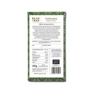 Ajala Chocolate Tansania Kokoa Kamili 70% tumma suklaa
