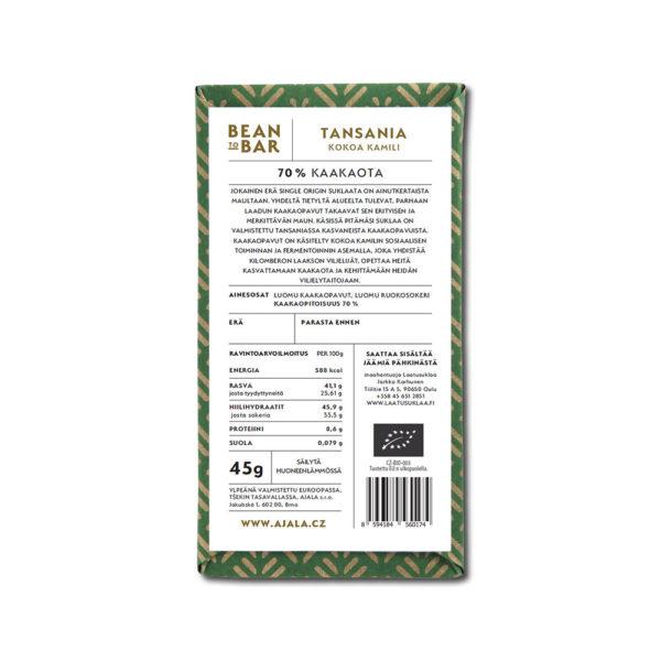 Ajala Chocolate Tansania Kokoa Kamili 70%
