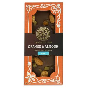 Chocolate Tree Orange&Almonds 45% maitosuklaa (100g)