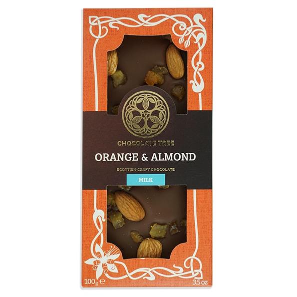 Chocolate Tree Orange&Almonds 45% maitosuklaa (100g) 1