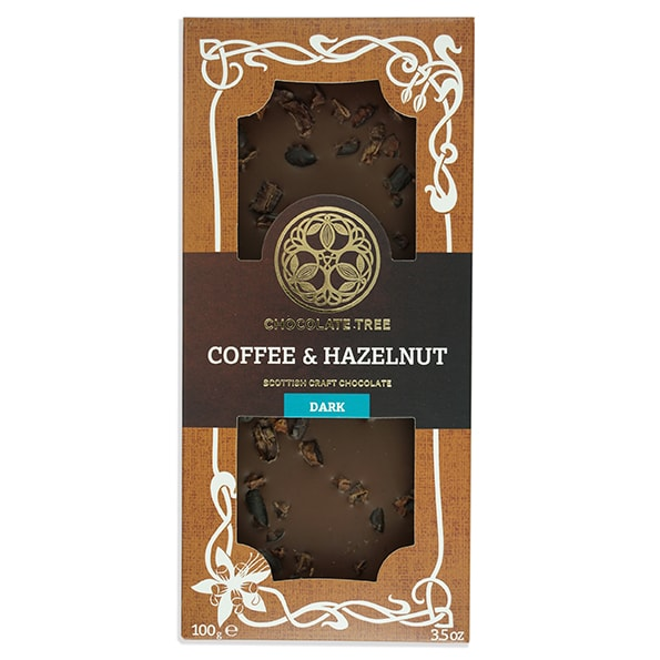 Chocolate Tree Coffee & Hazelnut 50% tumma suklaa (100g) 1