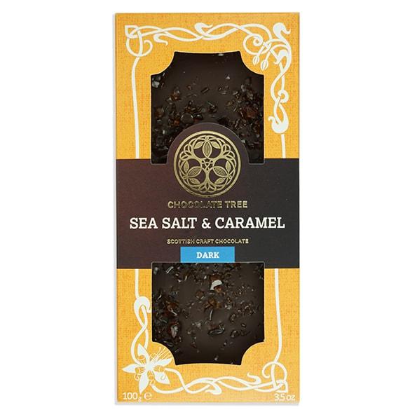 Chocolate Tree Sea Salt & Caramel 70% tumma suklaa (100g) 1